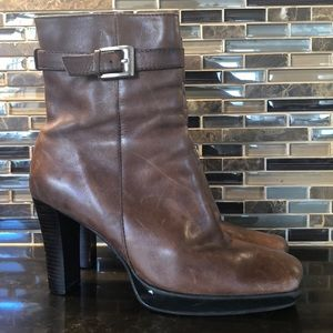 Style & Co. Brown leather boots